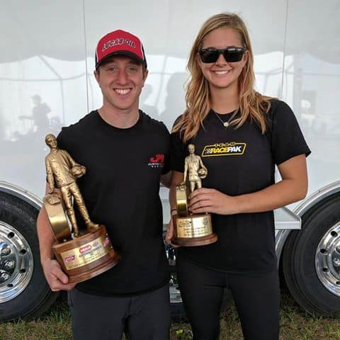 Megan Meyer & Justin Ashley Earn Win no. 40 & no. 41 at Gainesville Raceway, Set Record of 5.15 and 5.14 E.T.